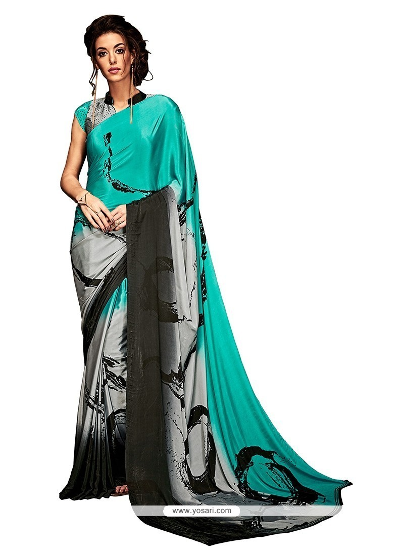 Lovable Print Work Crepe Silk Casual Saree