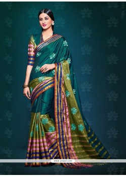 Modern Handloom Silk Patch Border Work Designer Saree