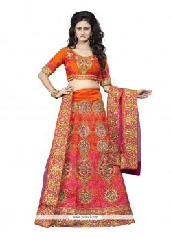 Congenial A Line Lehenga Choli For Bridal