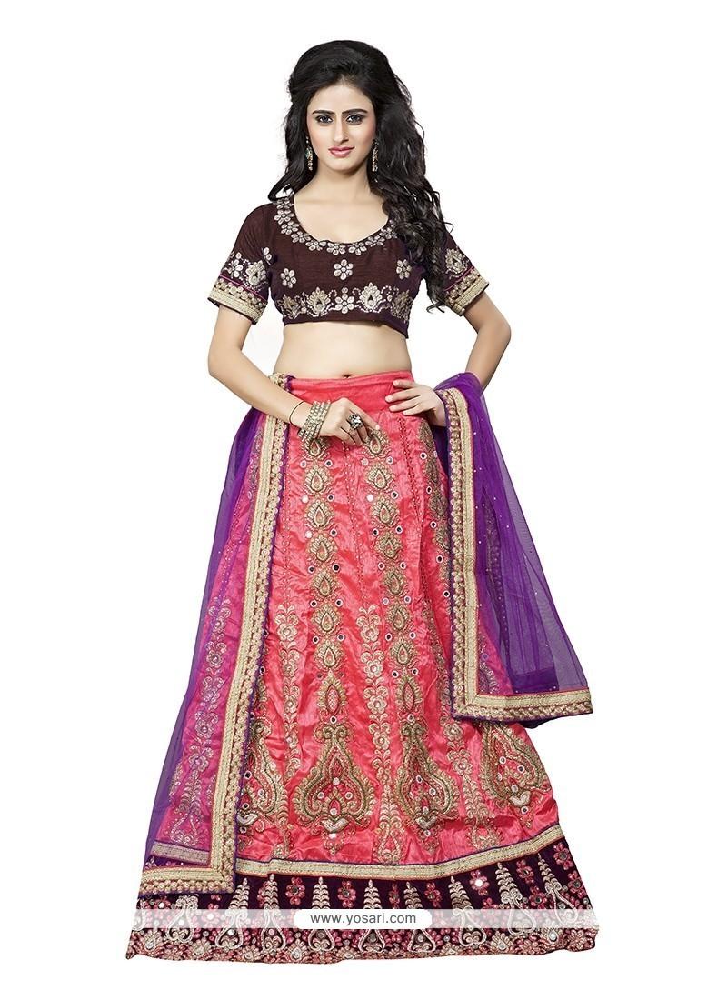 Specialised Silk A Line Lehenga Choli
