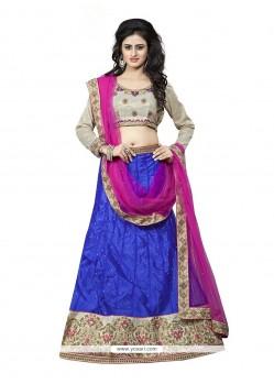 Glorious Blue A Line Lehenga Choli