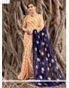 Classical Print Work Faux Chiffon Casual Saree