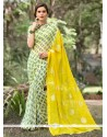 Captivating Faux Chiffon Green Casual Saree