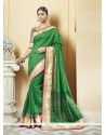Awesome Patch Border Work Printed Saree