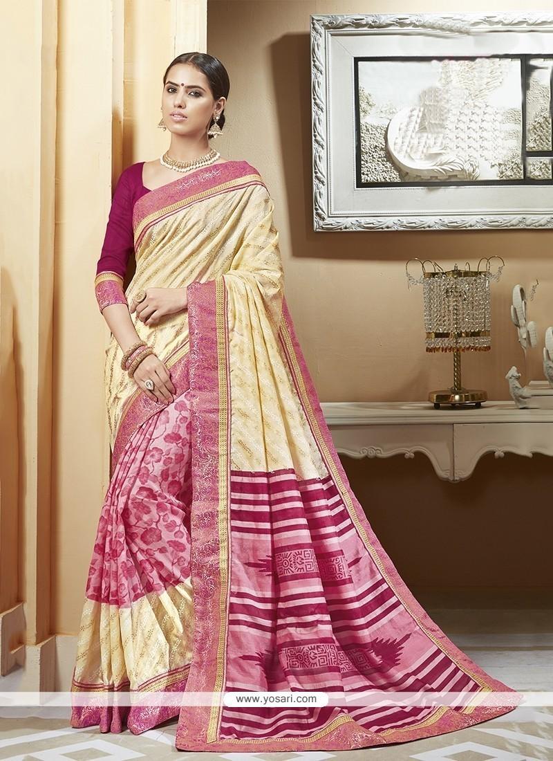 Exceeding Multi Colour Print Work Silk Printed Saree