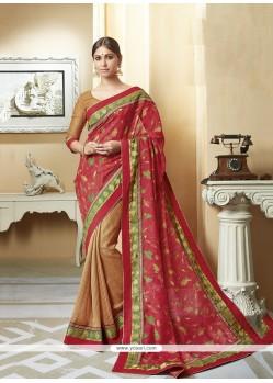 Glossy Silk Printed Saree