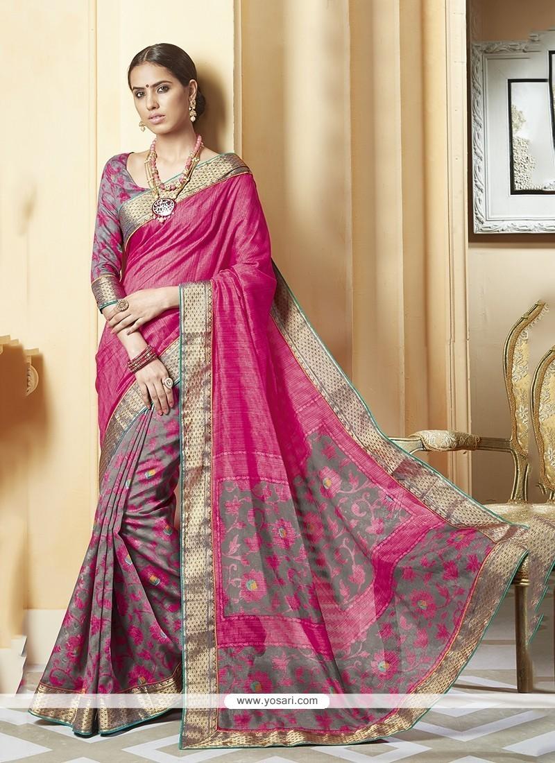 Auspicious Multi Colour Printed Saree