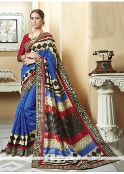 Baronial Silk Multi Colour Printed Saree