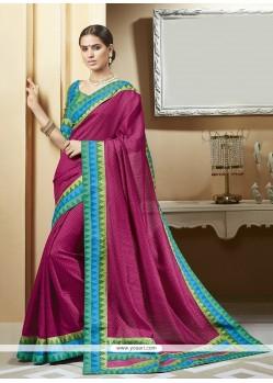 Fine Silk Magenta Printed Saree