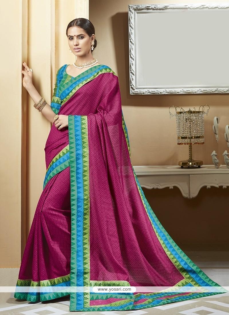 7d8a3df35 Shop online Buy Fine Silk Magenta Printed Saree Online   Italy