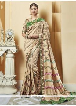 Stunning Silk Print Work Printed Saree