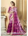 Fantastic Multi Colour Patch Border Work Printed Saree