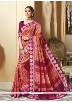 Regal Multi Colour Silk Printed Saree