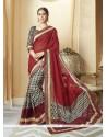 Transcendent Silk Multi Colour Print Work Printed Saree