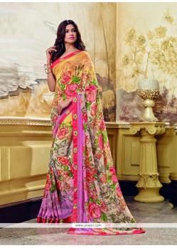 Resplendent Multi Colour Print Work Printed Saree