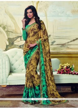 Captivating Georgette Multi Colour Printed Saree