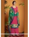 Renowned Cotton Satin Digital Print Work Designer Suit