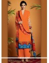 Irresistible Digital Print Work Cotton Satin Designer Suit