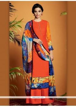 Elite Cotton Satin Designer Suit