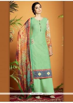 Lovely Digital Print Work Cotton Satin Designer Suit