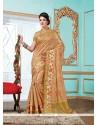 Exceptional Tussar Silk Beige Designer Saree