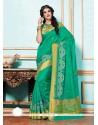 Mystical Tussar Silk Patch Border Work Designer Saree