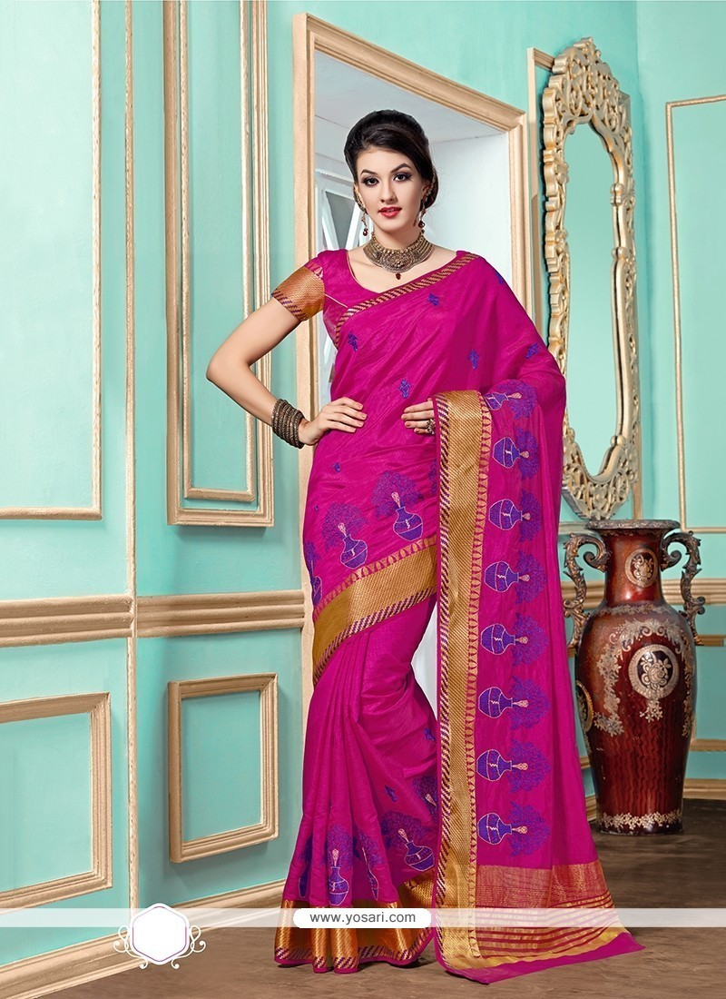 Beguiling Tussar Silk Designer Saree