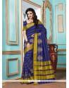 Girlish Patch Border Work Designer Saree