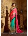 Eye-catchy Jacquard Sea Green Classic Designer Saree
