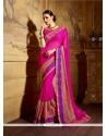 Charming Fancy Fabric Hot Pink Classic Designer Saree