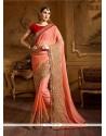 Prime Orange Classic Designer Saree