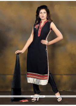 Bedazzling Georgette Black Designer Suit
