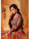 Dia Mirza Multicolor Embroidery Work Anarkali Suit