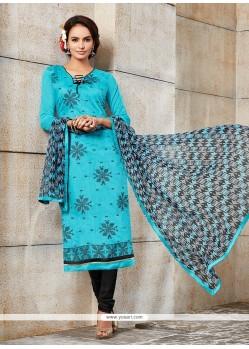 Appealing Blue Churidar Designer Suit