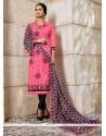 Aristocratic Pink Churidar Designer Suit