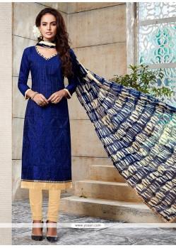Blissful Blue Churidar Designer Suit