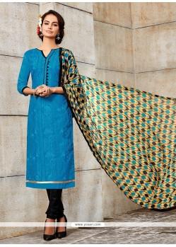 Magnetize Blue Churidar Designer Suit