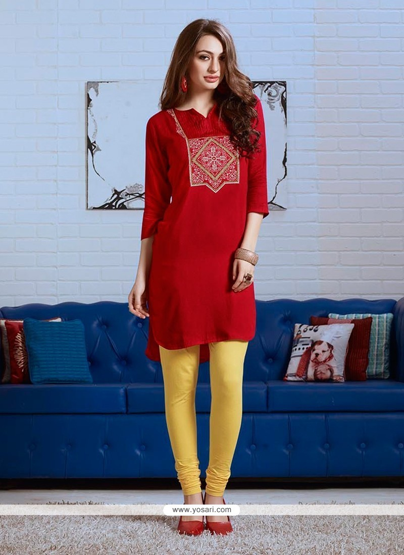 Innovative Embroidered Work Party Wear Kurti
