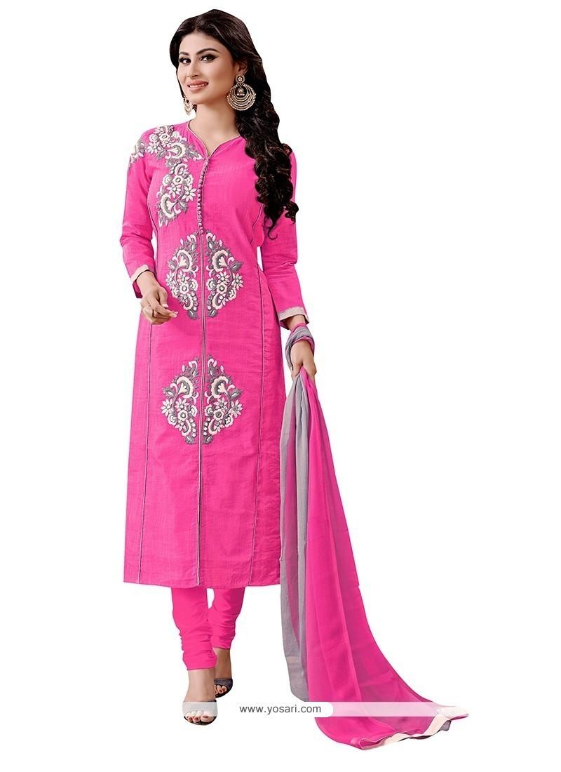 Noble Hot Pink Churidar Designer Suit