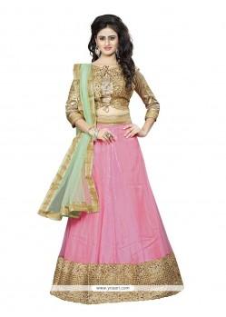 Tempting Pink A Line Lehenga Choli