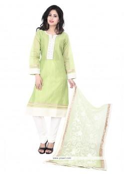 Desirable Embroidered Work Chanderi Designer Suit