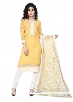 Heavenly Embroidered Work Chanderi Designer Suit
