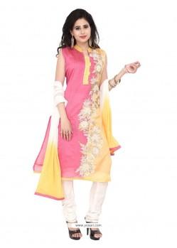 Snazzy Chanderi Designer Suit