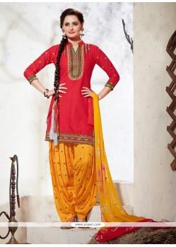 Masterly Embroidered Work Punjabi Suit