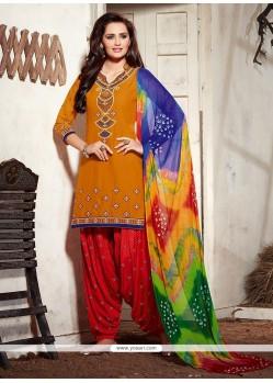 Adorning Embroidered Work Punjabi Suit