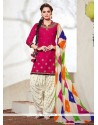 Paramount Cotton Embroidered Work Punjabi Suit