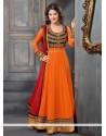 Spendid Orange Georgette Anarkali Suit