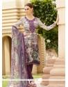 Baronial Print Work Multi Colour Faux Crepe Churidar Designer Suit