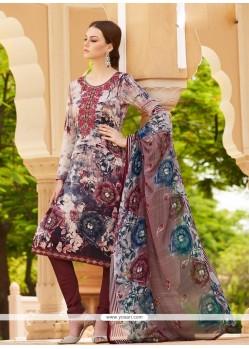 Gilded Multi Colour Churidar Designer Suit