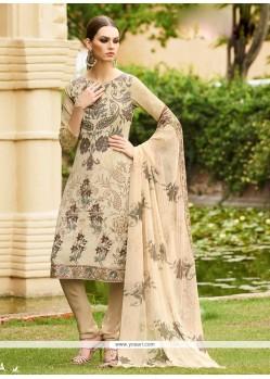 Precious Faux Crepe Multi Colour Embroidered Work Churidar Designer Suit